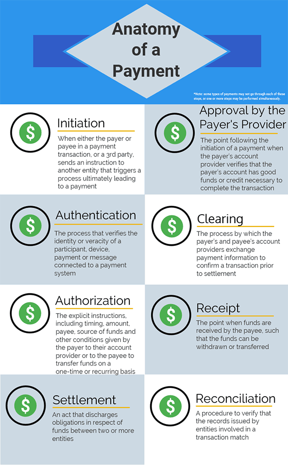 Anatomy of a payment infographic